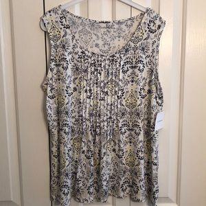 NWT Croft and barrow size XL sleeveless shirt
